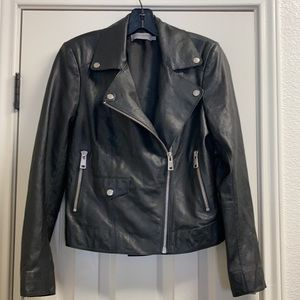 Liebeskind Berlin lamb leather moto zip jacket